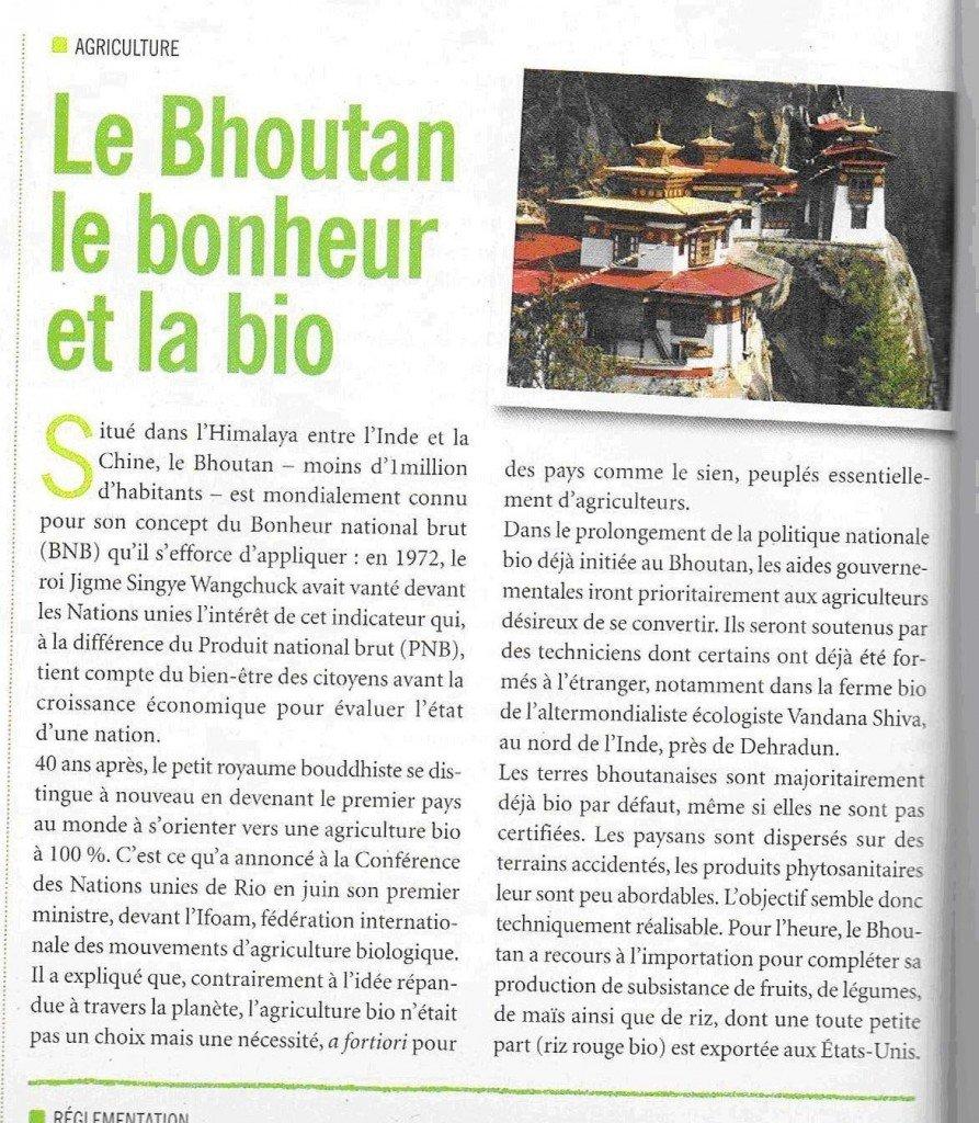 Le Bouthan, le bonheur et le bio dans Produits Bio dans le monde bouthan